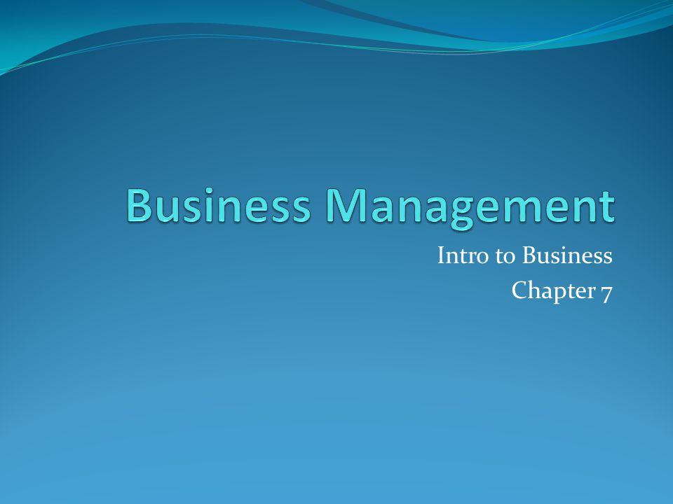 intro to business chapter five revie