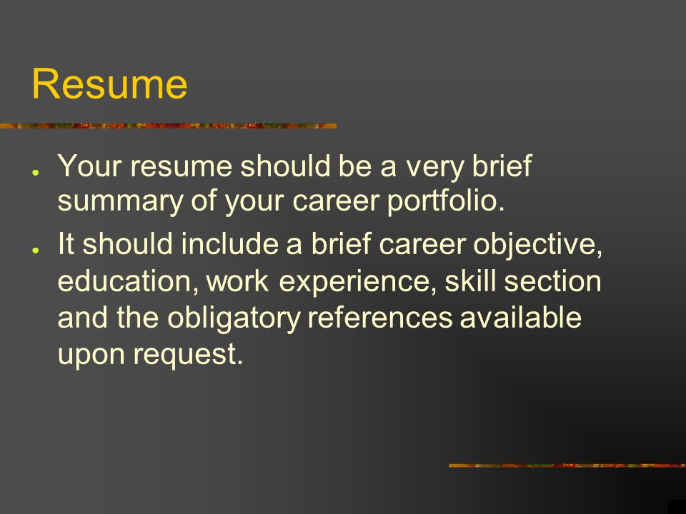 how to create a career portfolio ppt