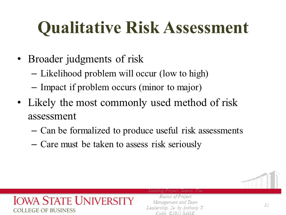 Qualitative Risk Assessment