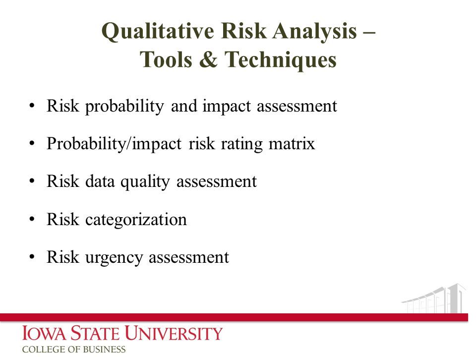 Qualitative Risk Analysis – Tools & Techniques