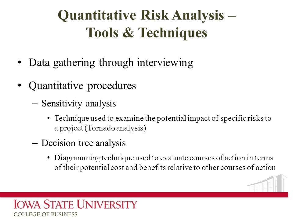 Quantitative Risk Analysis – Tools & Techniques