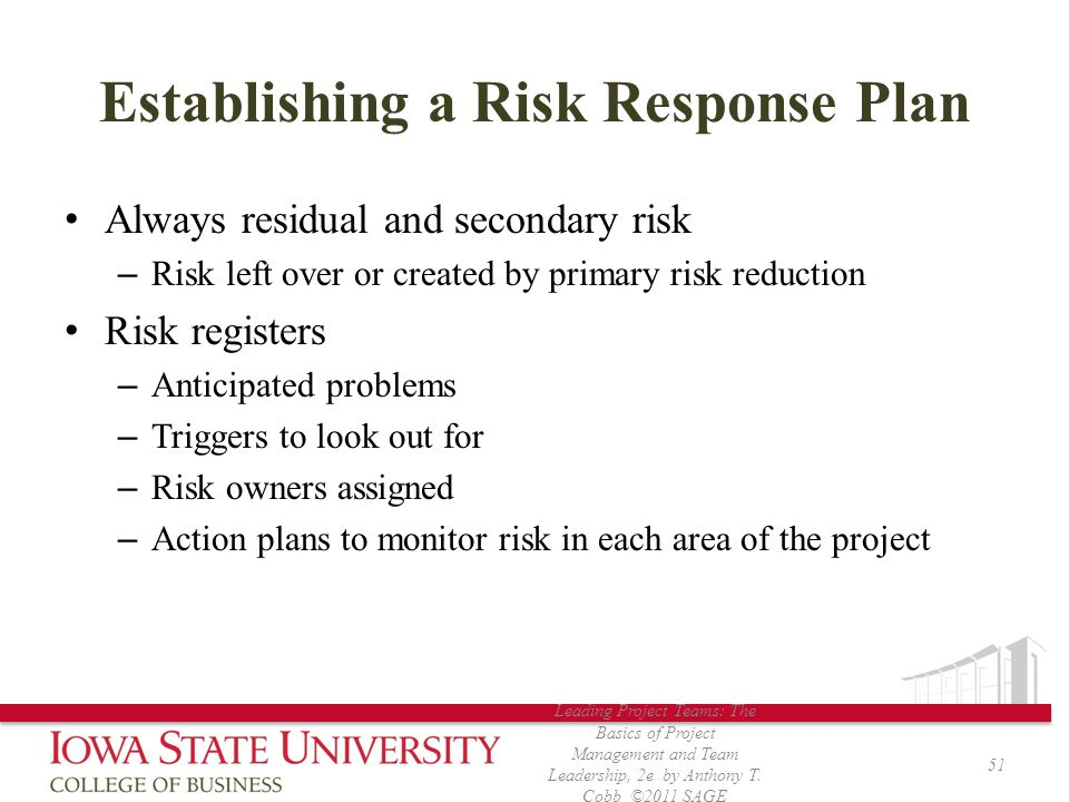 Establishing a Risk Response Plan