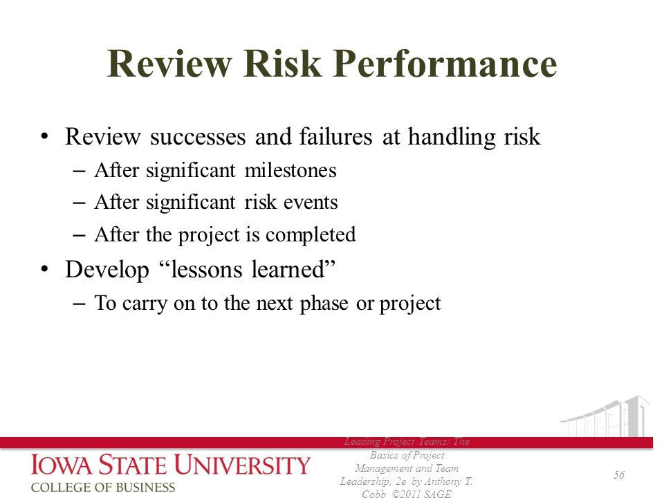Review Risk Performance
