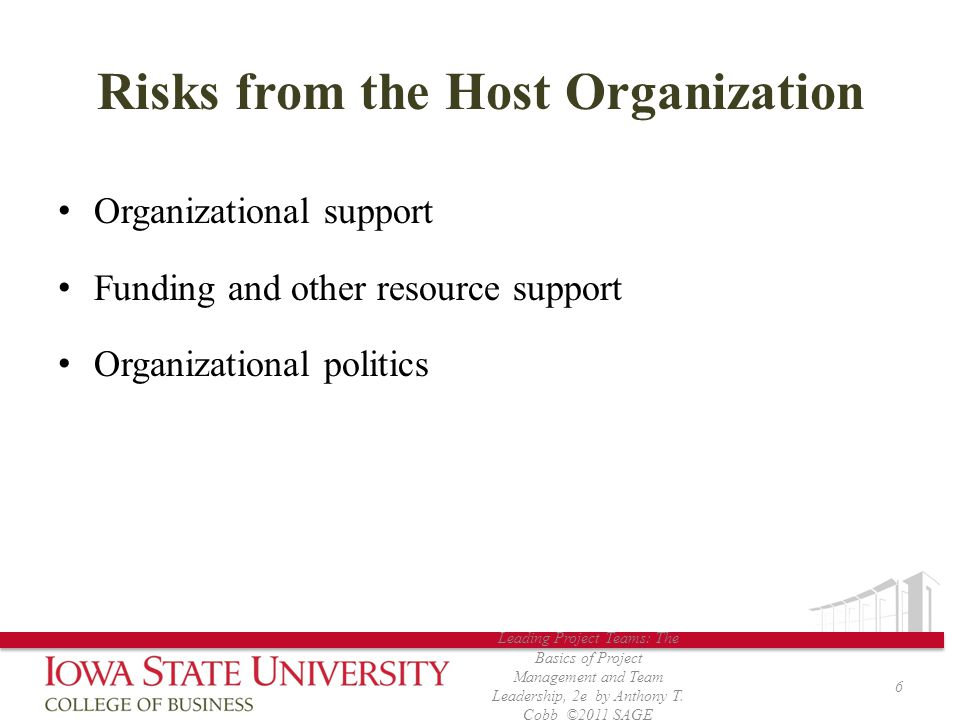 Risks from the Host Organization