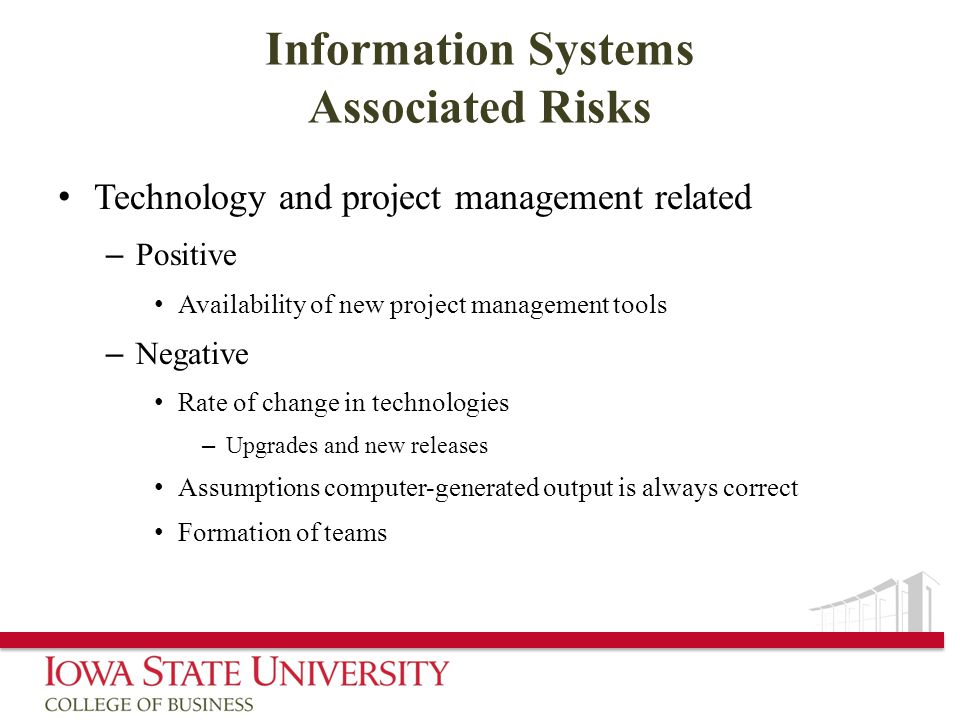 Information Systems Associated Risks