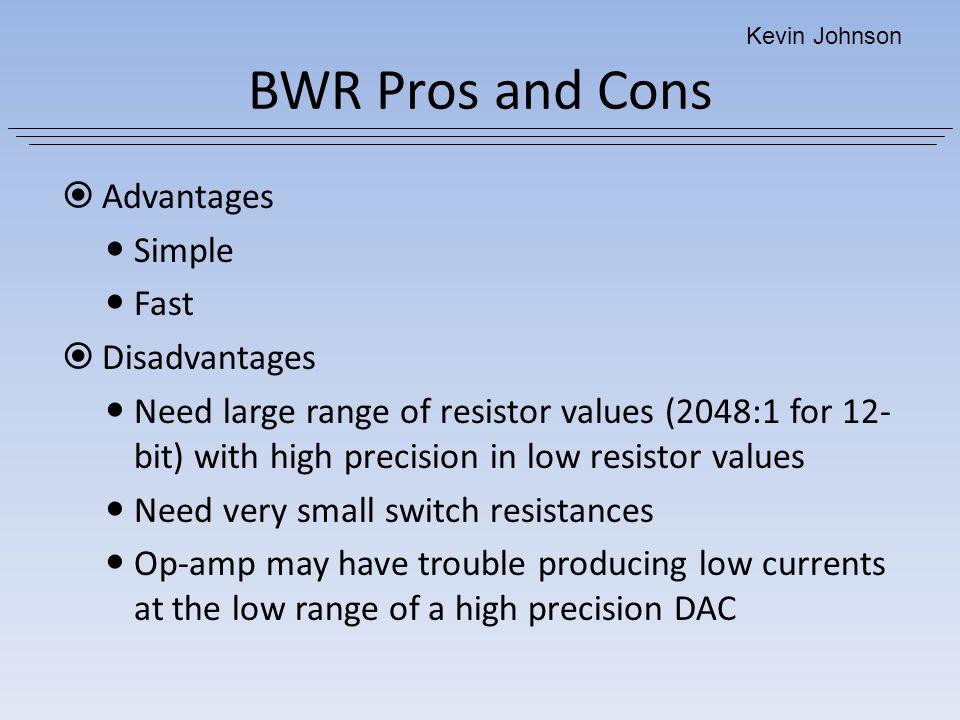 BWR Pros and Cons Advantages Simple Fast Disadvantages