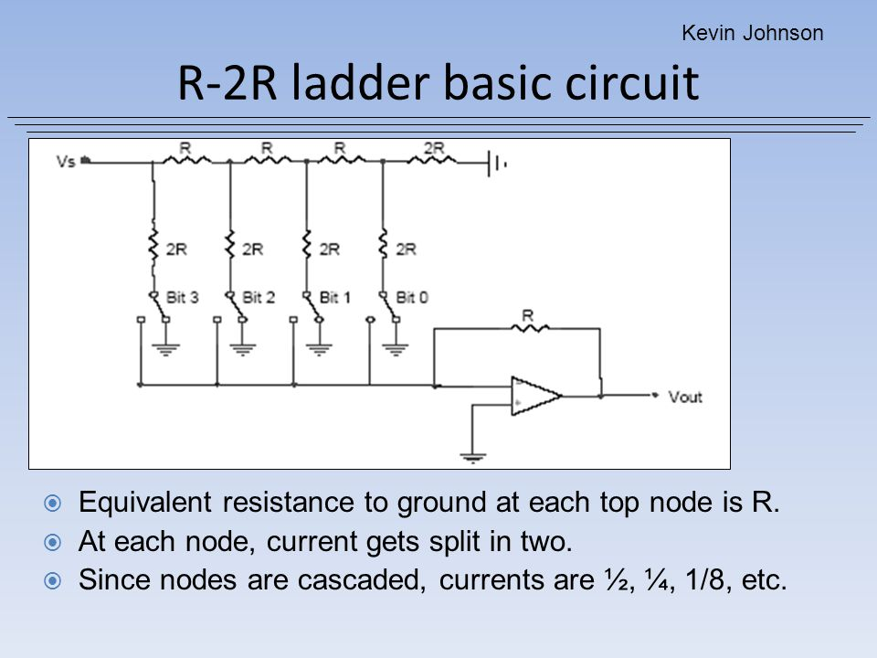 R-2R ladder basic circuit