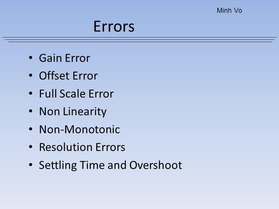Errors Gain Error Offset Error Full Scale Error Non Linearity