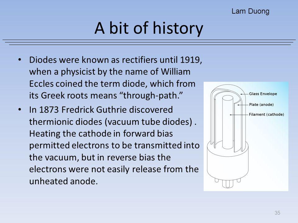 Lam Duong A bit of history.