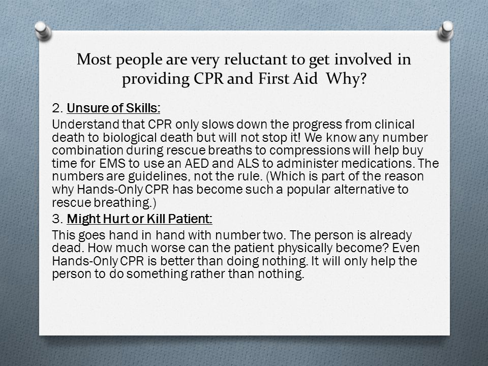 why cpr and first aid are This is why it's important to have at least a basic knowledge of first aid at its most basic,  the importance of first aid is hard to overestimate.