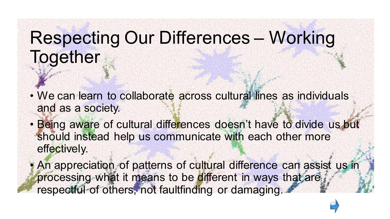 Respecting Our Differences – Working Together