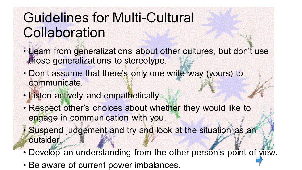 Guidelines for Multi-Cultural Collaboration