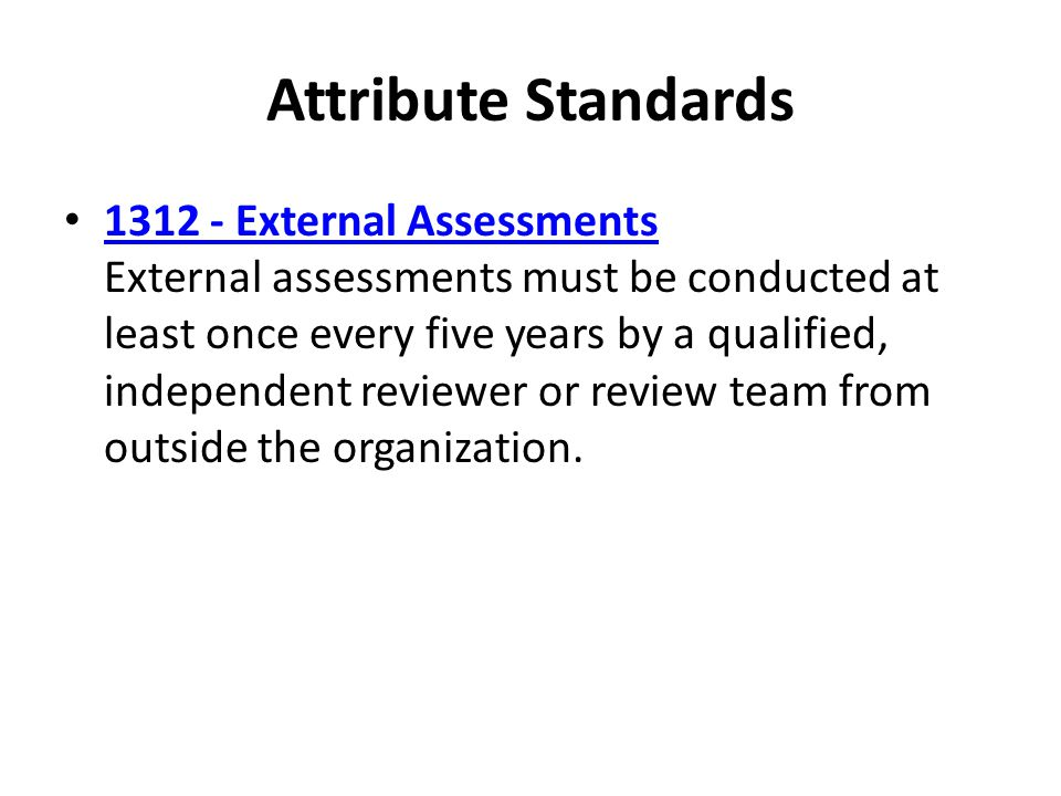 Attribute Standards