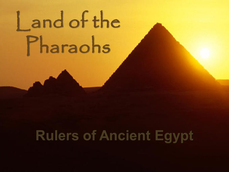 the dynasties that ruled the land of pharaohs