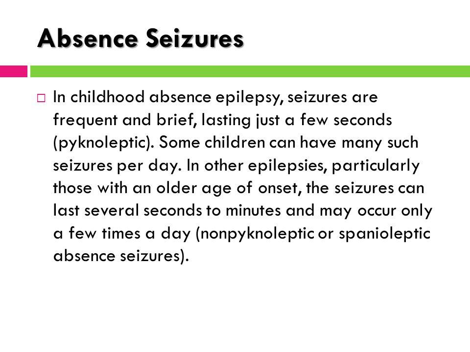 childhood absence epilepsy 600131 - epilepsy, childhood absence, susceptibility to, 1 eca1 - eca1.