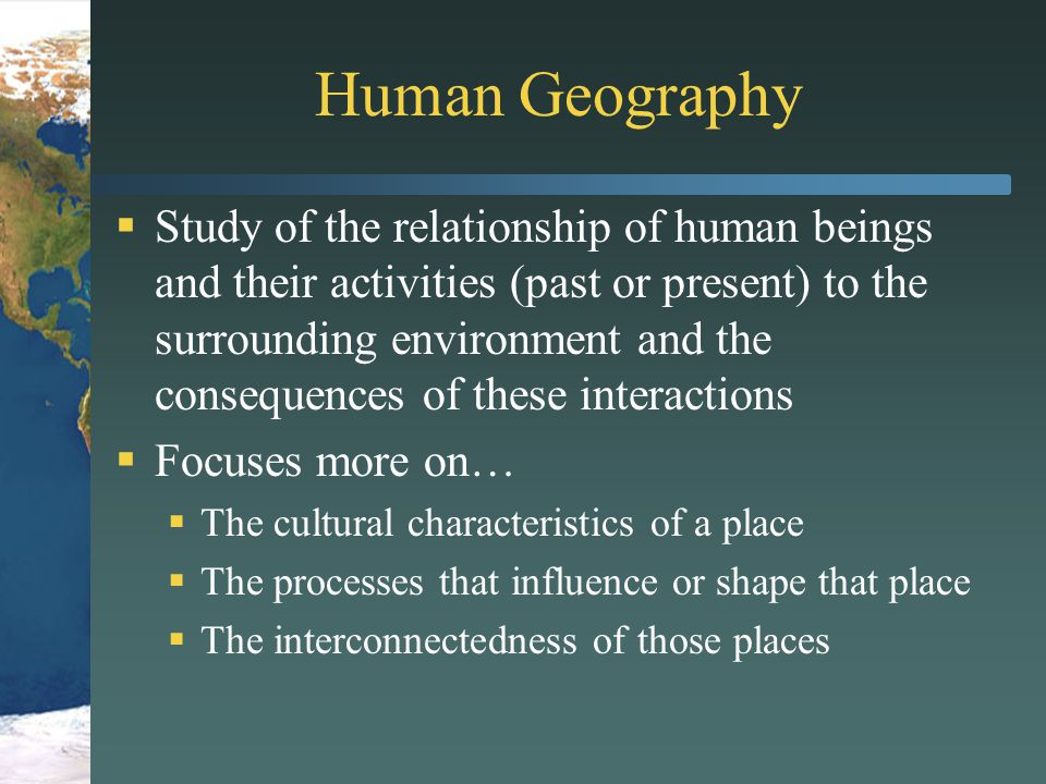 The Geographic Perspective Social Science Aspects Ppt