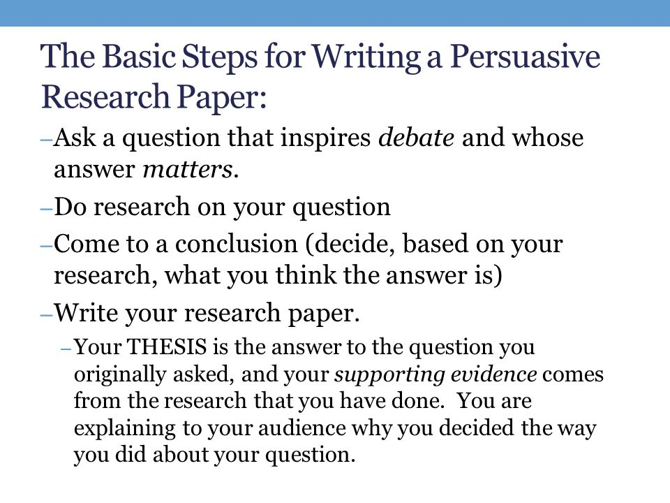 ten simple rules for writing research papers The importance of writing well can never be overstated for a successful professional career, and the ability to write solid papers is an essential trait of a productive researcher writing and .