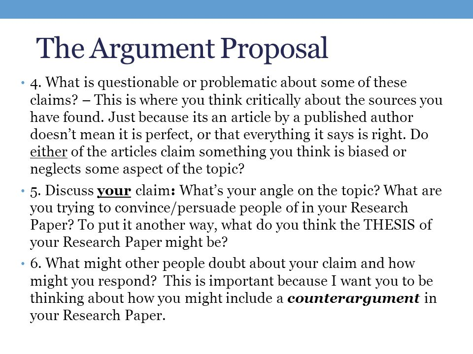 counter arguments in research papers