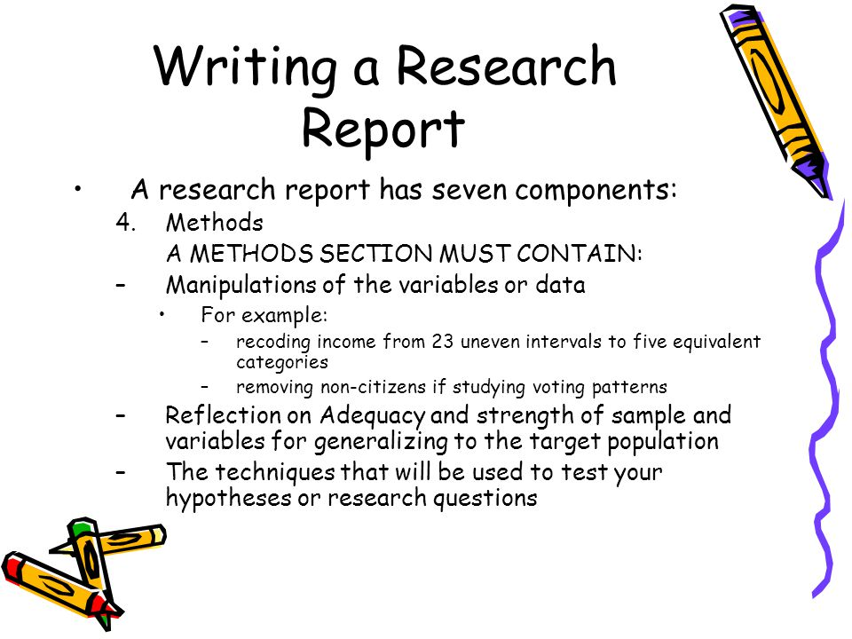 Writing A Research Report  Ppt Video Online Download