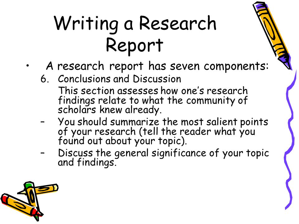 how to set out a research report