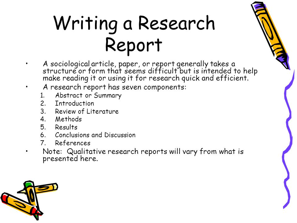 Components in writing research methodology