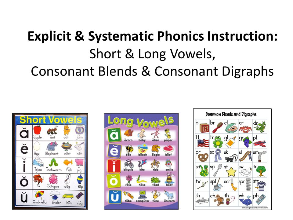 Explicit Systematic Phonics Instruction Short Long Vowels