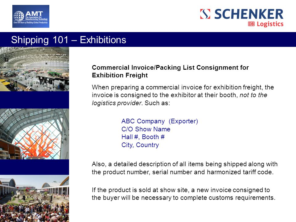 Exhibition Booth Hs Code : Shipping webinar presented by amt schenker inc ppt