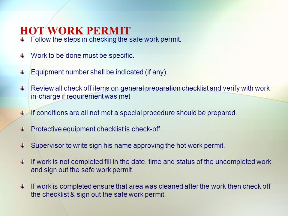 hot works permit template - unusual hot work permit template contemporary example