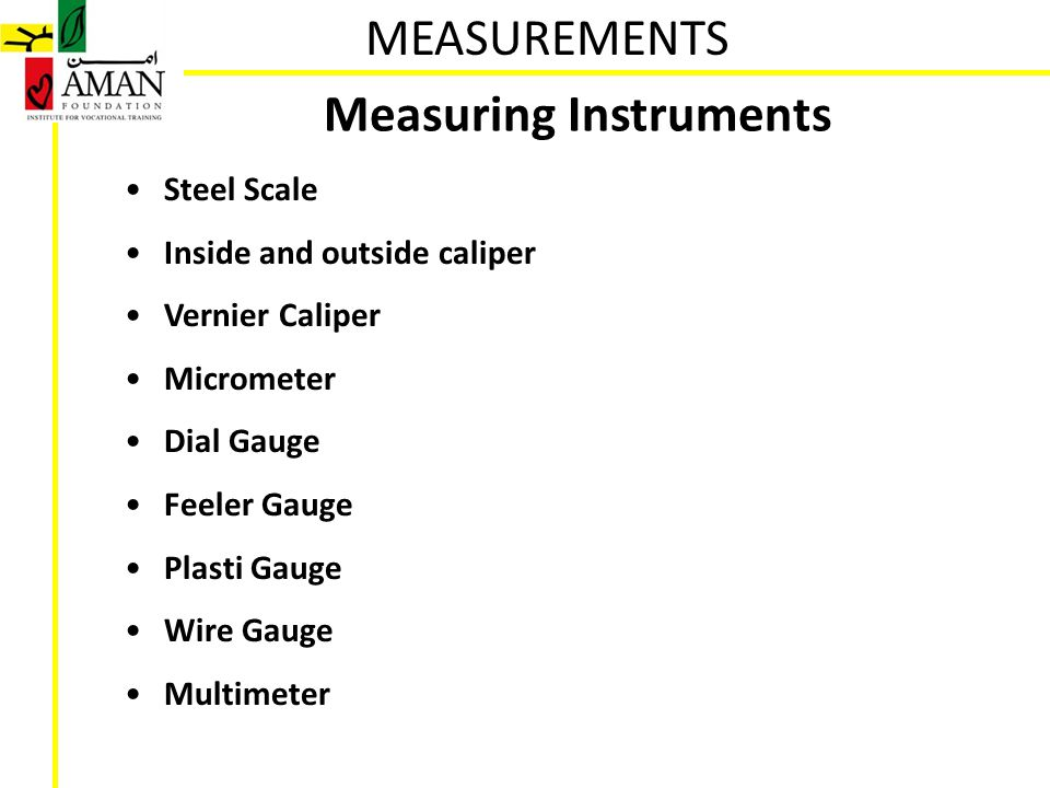 Their Names And Instruments For Measuring Area : Measurements ppt video online download