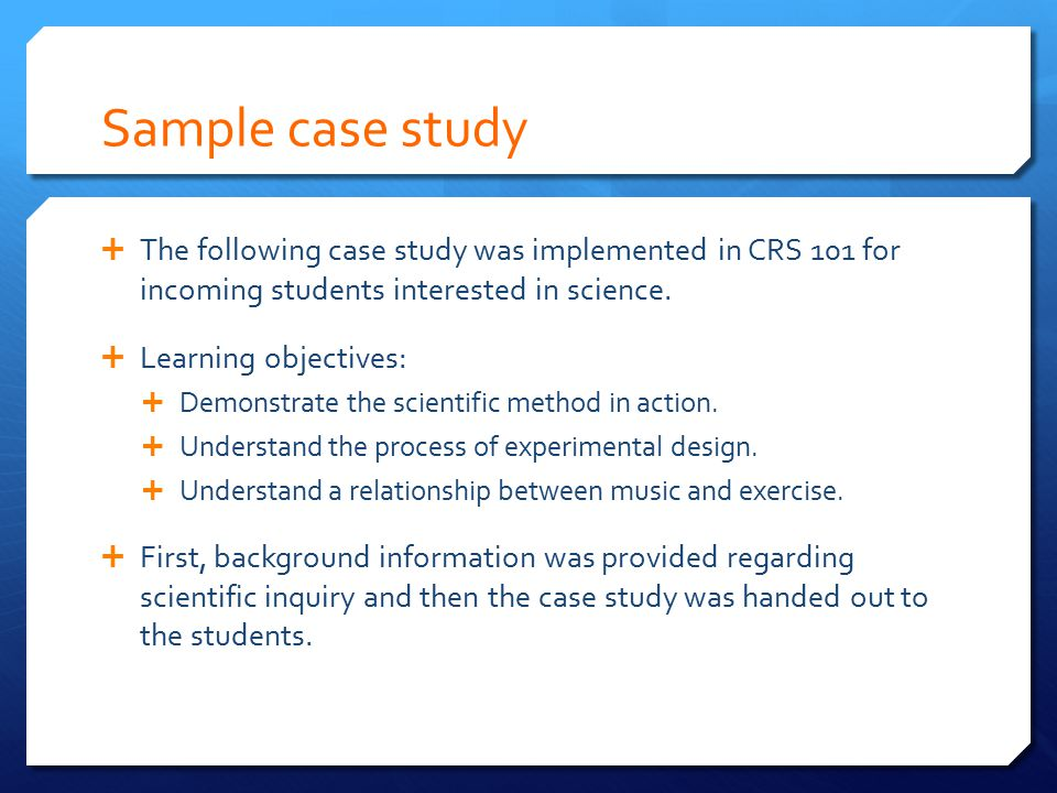 sample outline for case study essay