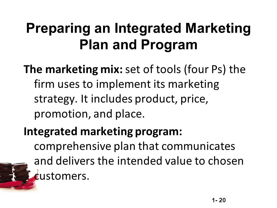 Preparing an Integrated Marketing Plan and Program
