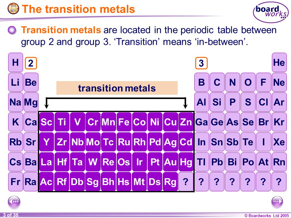 Ks4 chemistry transition metals ppt video online download the transition metals transition metals are located in the periodic table between group 2 and group urtaz Gallery