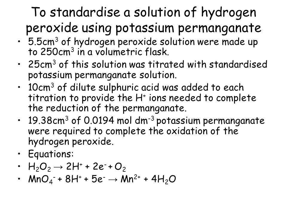 how to make potassium permanganate solution