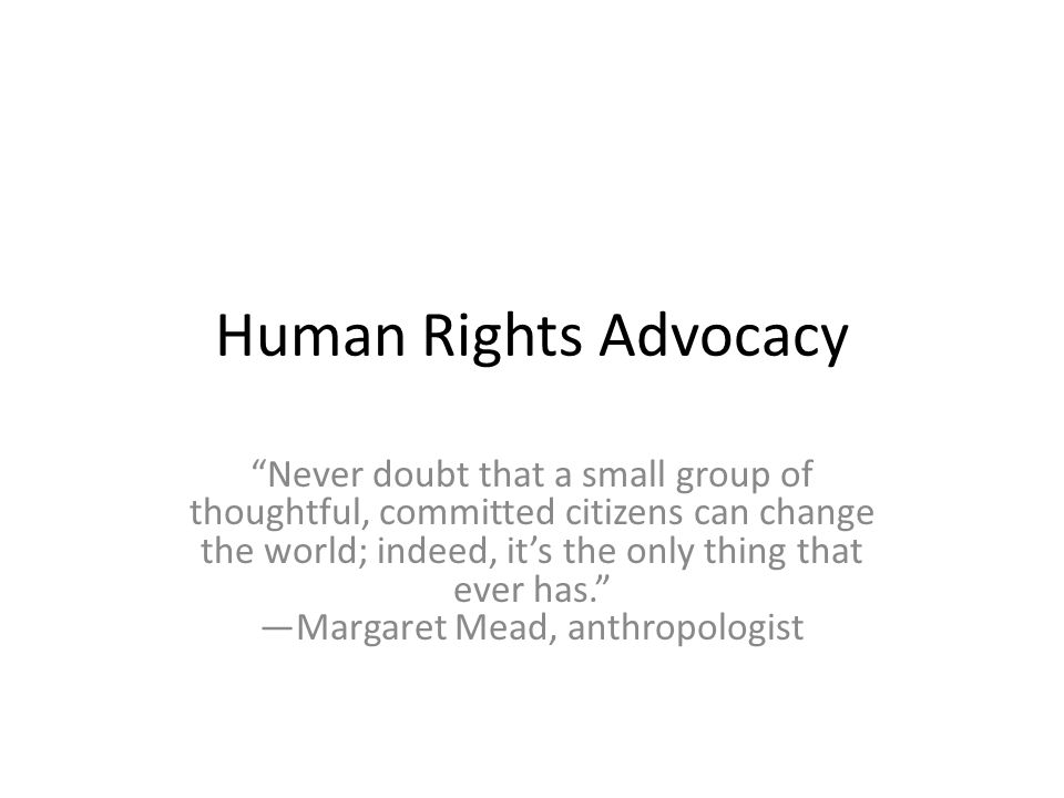 Human Rights Advocacy