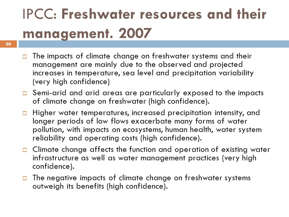 how freshwater resources are affected Because population changes affect such variables as the economy, the environment, natural resources, the labor force, energy requirements, infrastructure needs, and food supply, they also affect the availability and quality of the water sources that can be drawn upon for use.
