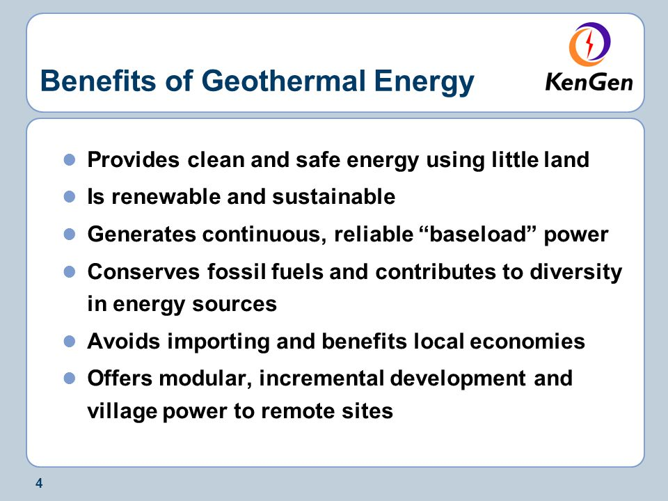 the benefits and limitations of geothermal energy