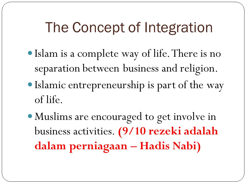 The Concept of Integration