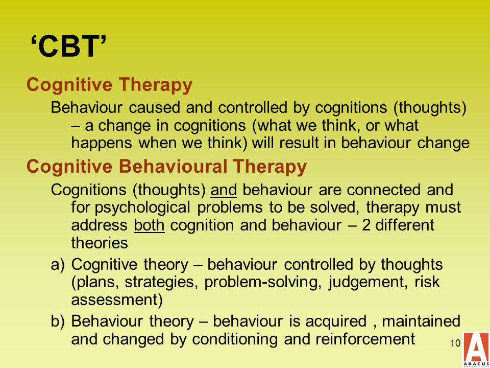 evaluation of cognitive behavioural therapy effectiveness Background previous researches have indicated that self-reported positive affect and negative affect is changing in a healthy direction during cognitive behavioural therapy (cbt.
