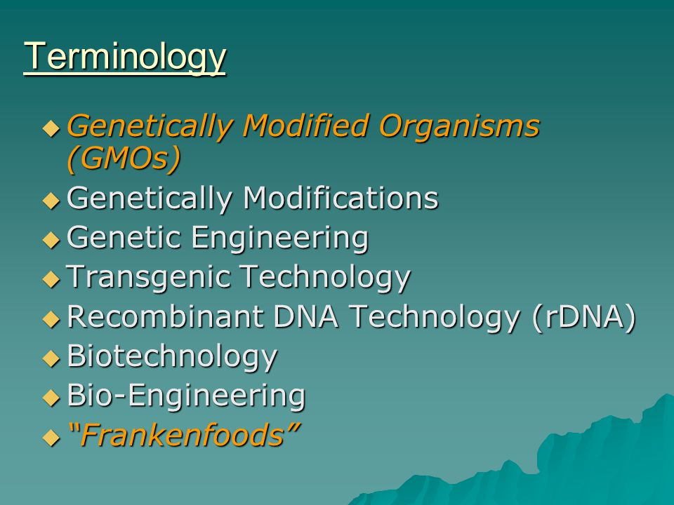 The Regulation of Genetic Modifications - ppt video online ...