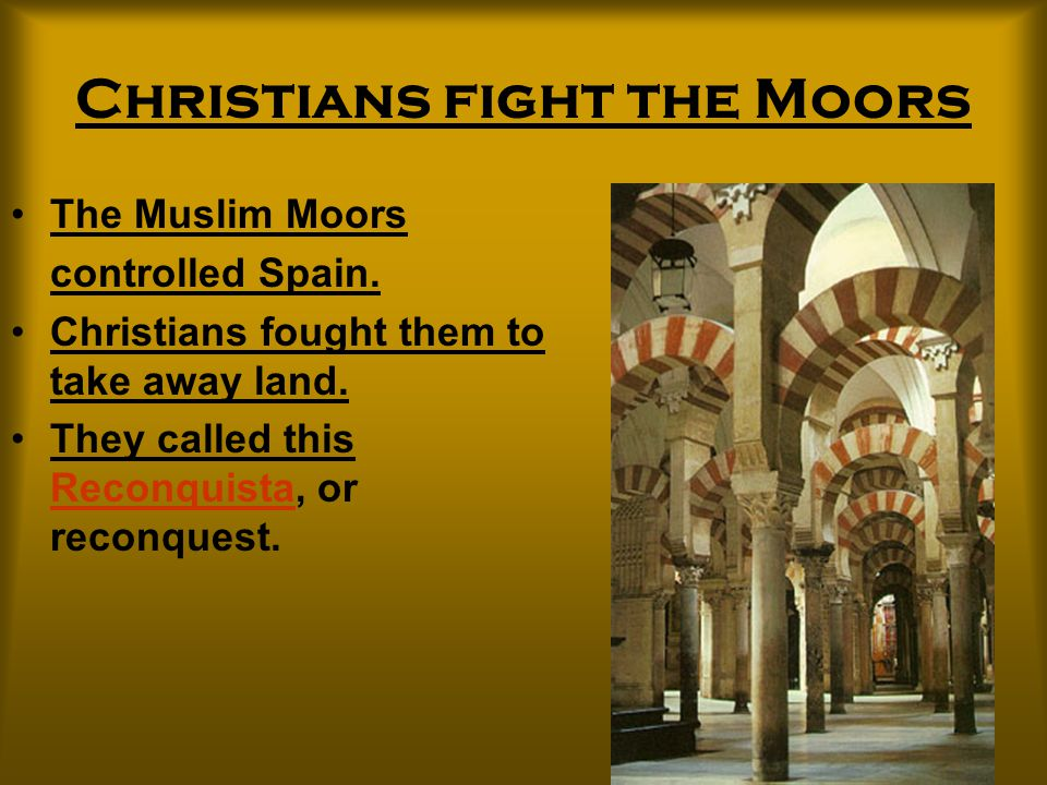 Christians fight the Moors