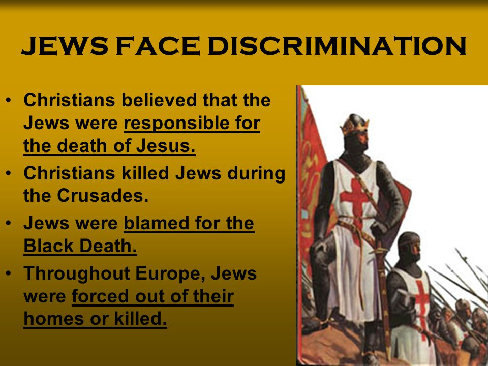JEWS FACE DISCRIMINATION