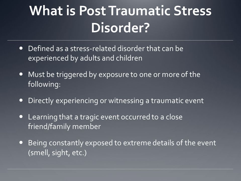An overview of the symptoms and treatment of post traumatic stress disorder