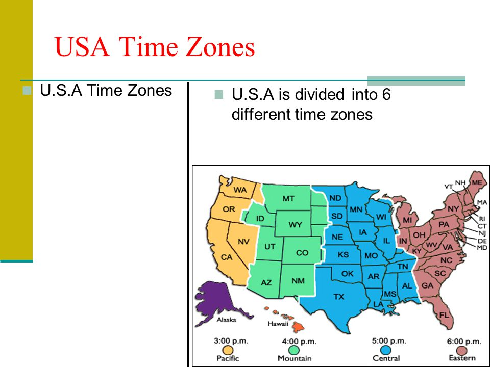 Th Grade Social Studies Ppt Download - Time zones usa