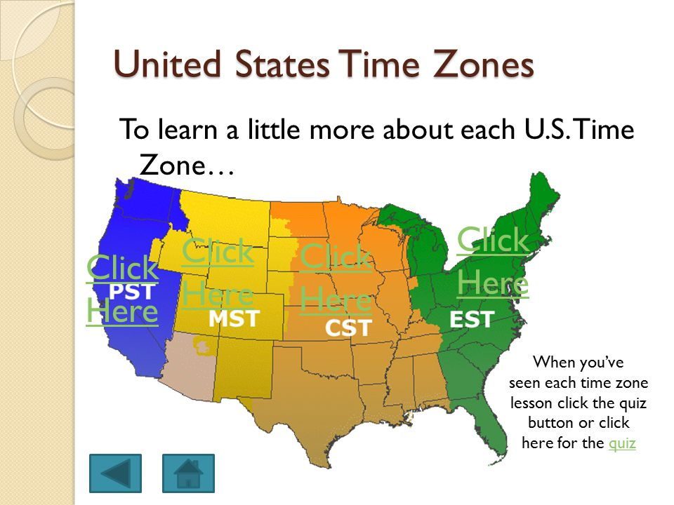 Quiz: USA States and Time Zones - fog.ccsf.edu
