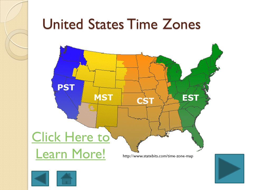 US Time Zones - timezones in the united states