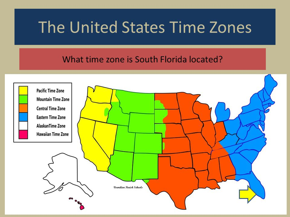 Us Time Zone Map Florida the united states time zones printable