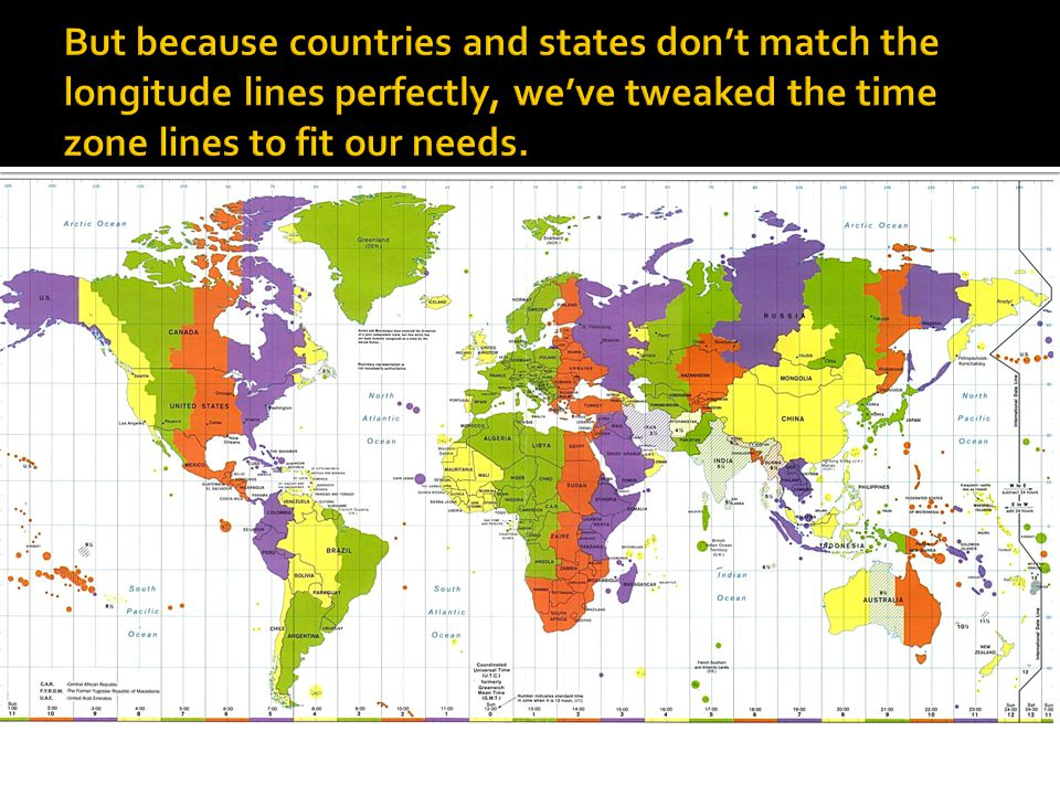 Latitude Longitude And Time Zones Ppt Download - Us map latitude longitude lines