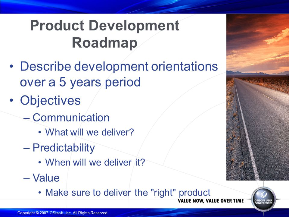 the osisoft product development roadmap ppt download
