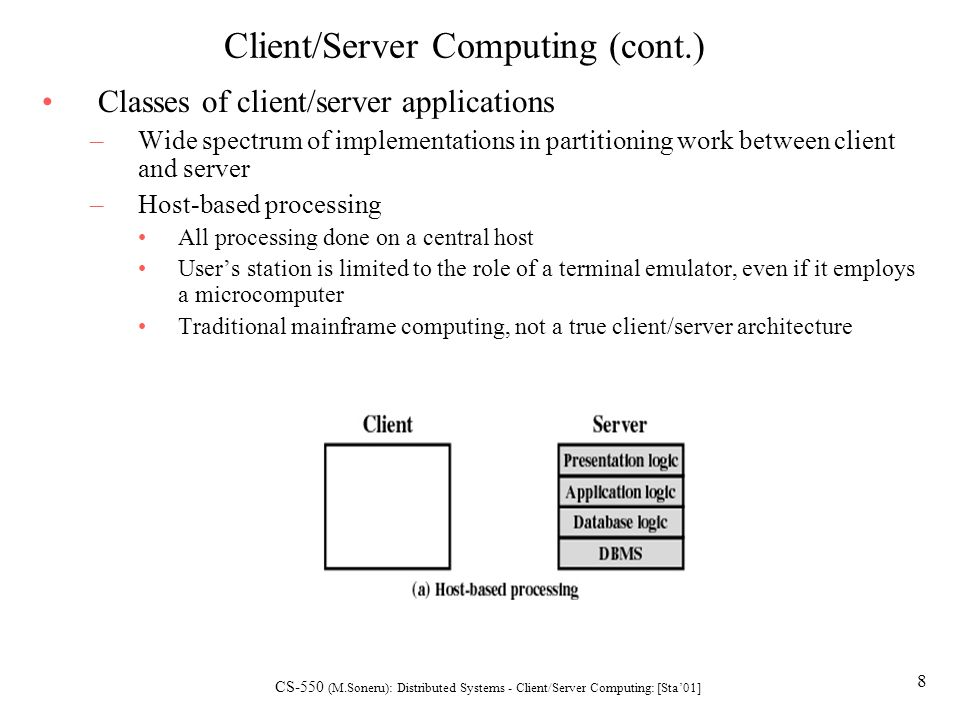 Distributed Systems: Client/Server Computing - ppt video online ...