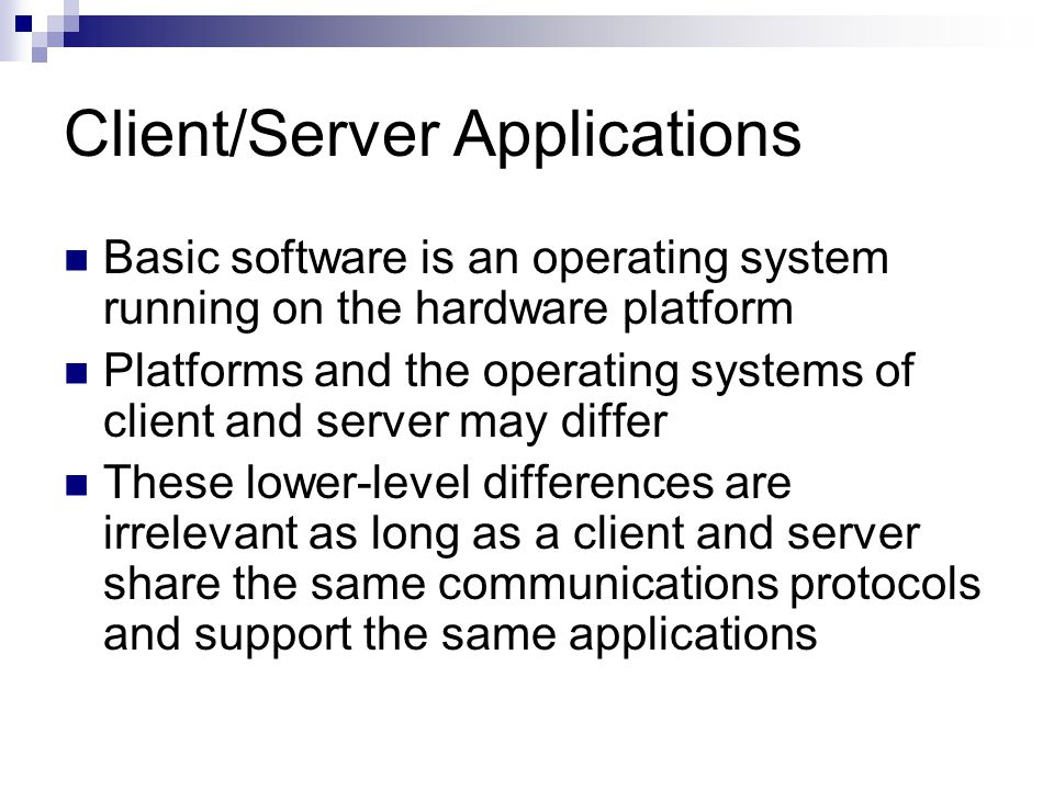 introduction to operating systems and client server The network operating system software used in computer networks is discussed the advantages and disadvantages of peer-to-peer and client/server.